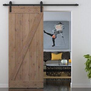 Bent Strap Sliding Door Track Hardware And Z Bar Primed Sliding Knotty  Solid Wood Panelled Alder