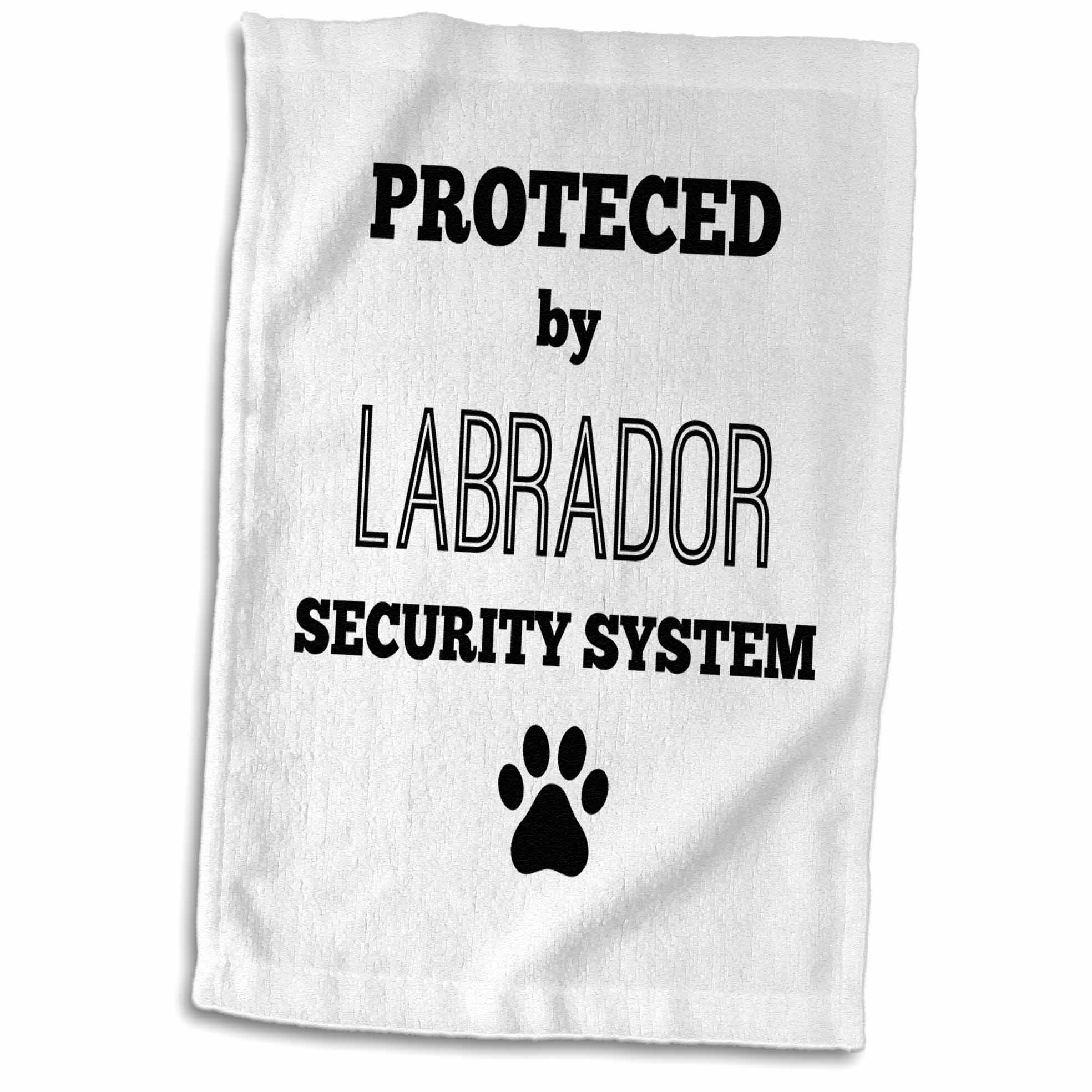 East Urban Home Cassiopeia Protected By Labrador Security System Hand Towel Wayfair