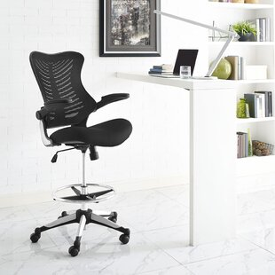 Great choice Charge Mid-Back Mesh Drafting Chair by Modway Reviews (2019) & Buyer's Guide