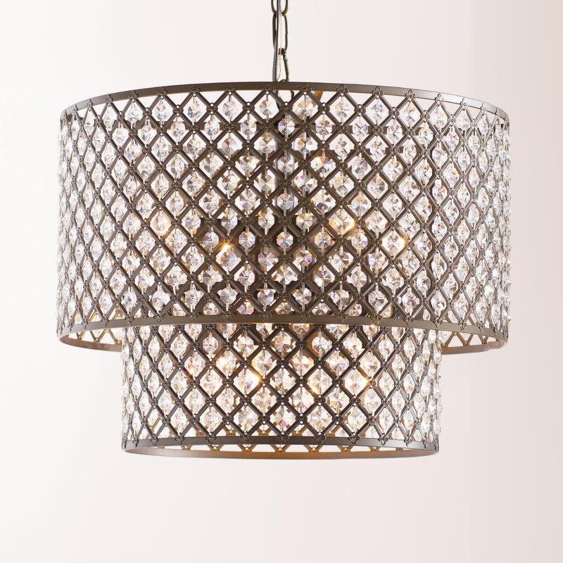 image chandelier lighting. Cottonwood 8-Light Drum Chandelier Image Lighting