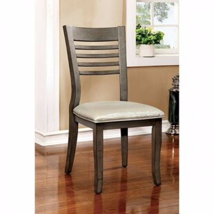 Afreena Solid Wood Dining Chair (Set of 2) Bayou Breeze