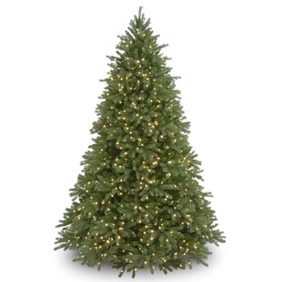 9 green artificial christmas tree with 1500 clear lights and stand