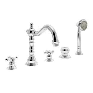 Symmons Carrington Double Handle Deck Mount Roman Tub Faucet with Hand Shower
