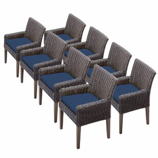 Mejia Patio Dining Chair with Cushion (Set of 8)