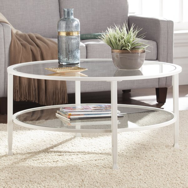 Charming Orren Ellis Casas Metal And Glass Round Coffee Table U0026 Reviews | Wayfair