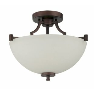 Woosley 2-Light Semi Flush Mount by Winston Porter