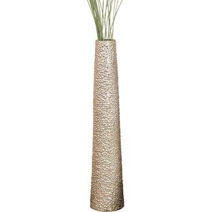 Silver Ceramic Decorative Vase