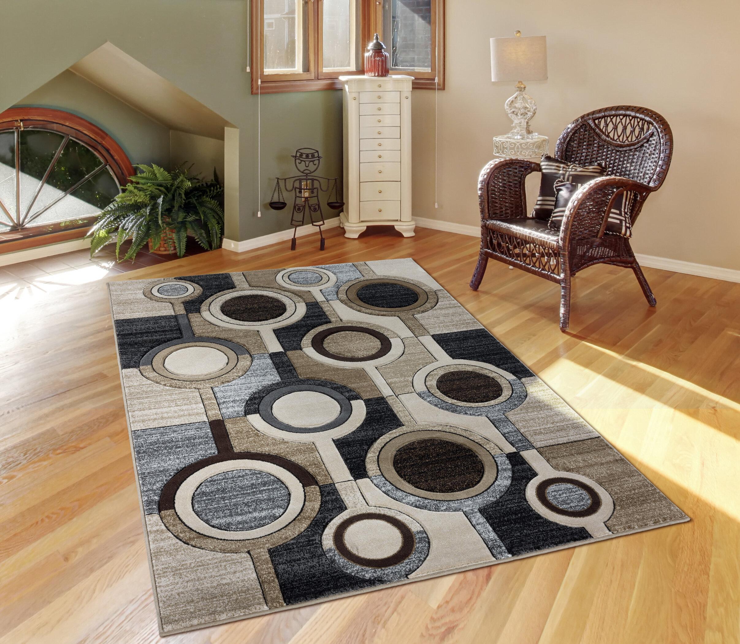 Wrought Studio Adonia Geometric Ivory Gray Area Rug Wayfair