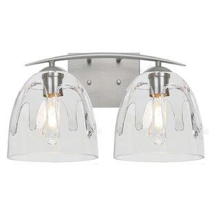Read Reviews Brian 2-Light Steel Vanity Light By Brayden Studio