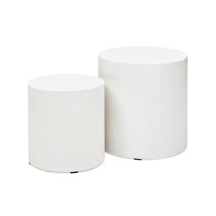 Ranchester Pedestals End Table Set (Set of 2) by Greyleigh
