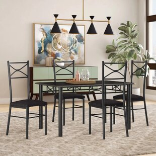 Geraldine 5 Piece Dining Set I by Zipcode Design Top Reviews