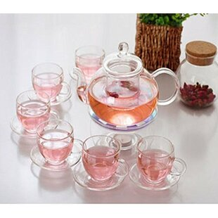 Gaudet 9 Piece Glass Tea Set