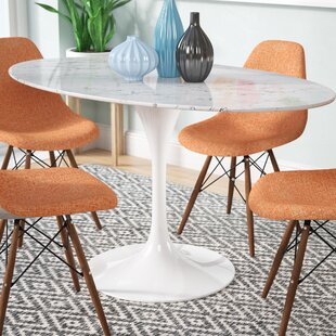 Langley Street Kylee Artificial Marble Oval-Shaped Dining Table