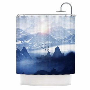 'Winter, Melody...' Nature Single Shower Curtain