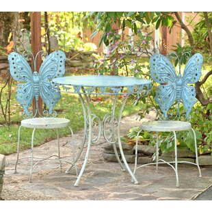 August Grove Pina Butterfly 3 Piece Bistr..