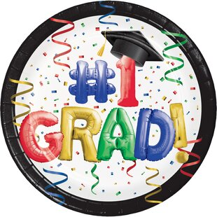 Grad Bulk Paper Disposable Dessert Plate (Set of 54)