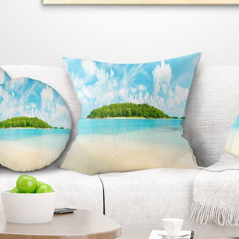 East Urban Home Photography Tropical Island Panorama Pillow Wayfair