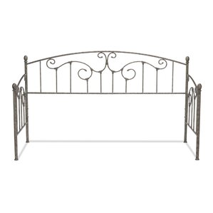 Marcy Metal Daybed with Sloping Rails and Vertical Spindles by August Grove Image