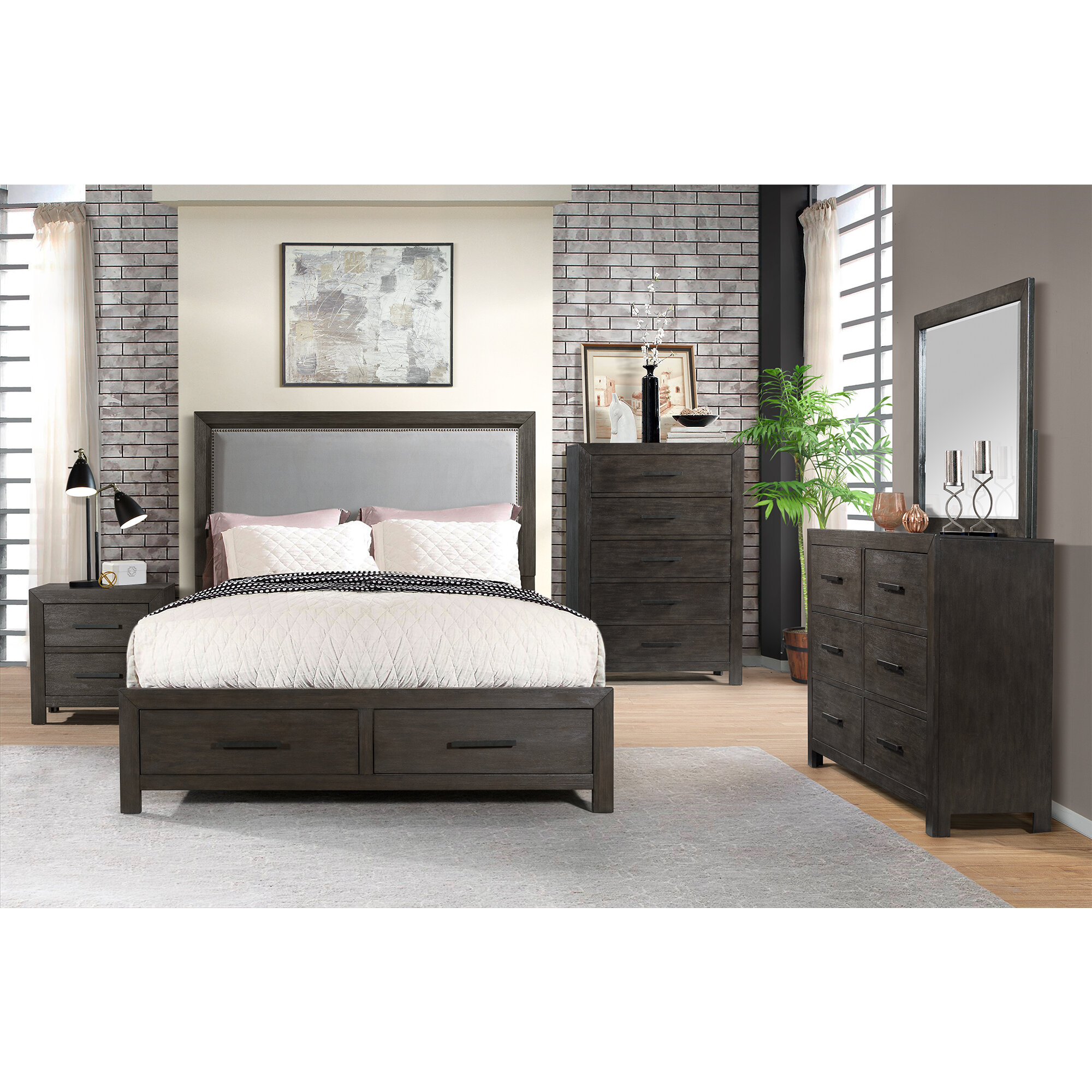 Gracie Oaks Mccorkle Platform 5 Piece Bedroom Set Reviews Wayfair