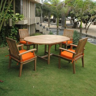 Bayou Breeze Arnott 5 Piece Teak Dining Set