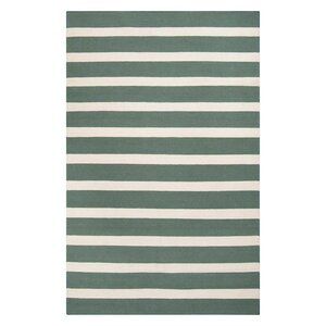 Kramer Winter White/Peacock Green Area Rug