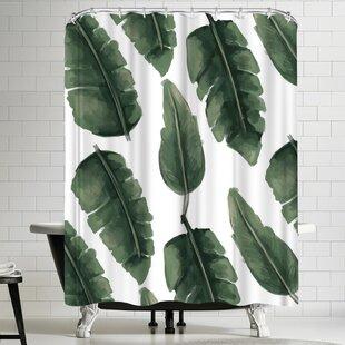 Jetty Printables Banana Leaf Painting Single Shower Curtain