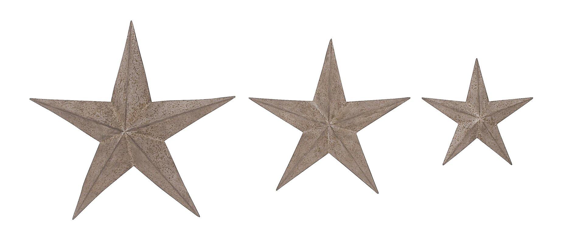 Star Wall Decor Beachcrest Home 3 Piece Stars Wall Décor Set & Reviews  Wayfair