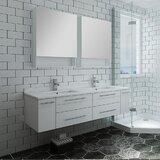 Lucera 60 Wall Hung Undermount Sink Double Bathroom Vanity by Fresca