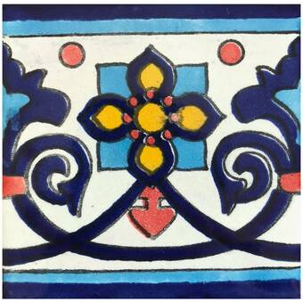 Rustico Tile and Stone TR4TURQUOISE Turquoise Ceramic Tile Box of 90 4 x 4 Blue