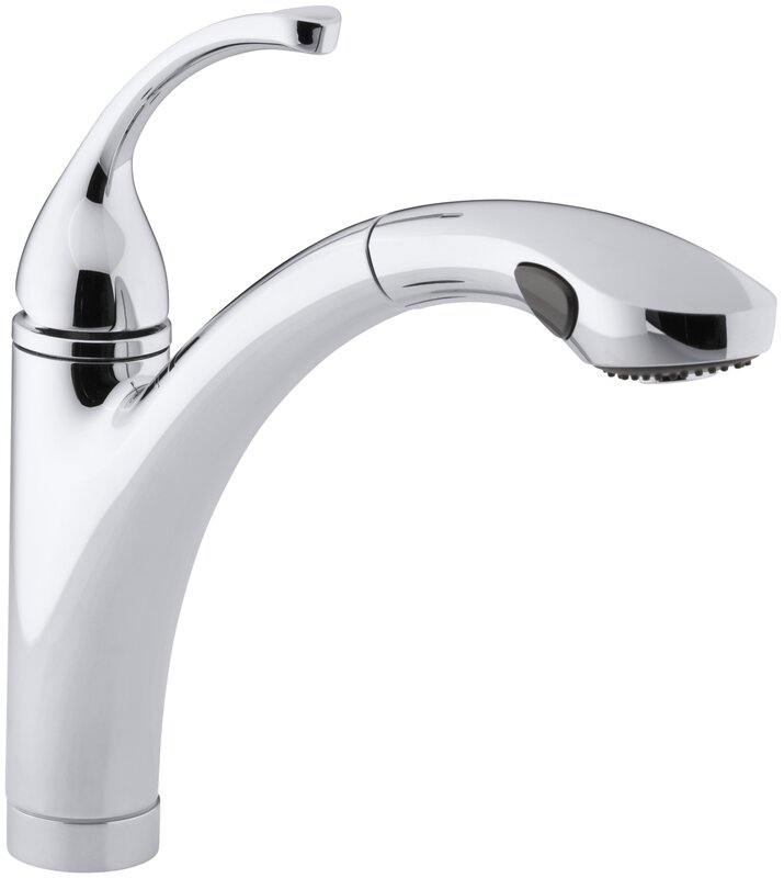 kohler forté single-hole or 3-hole kitchen sink faucet with 10-1/8