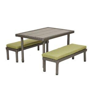 Inexpensive Petite Preschool Kids 3 Piece Writing Table and Bench Set ByECR4kids