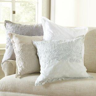Rosebud Applique Pillow Cover
