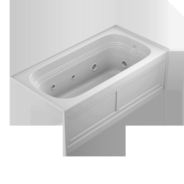 """Jacuzzi® Luxura 60"""" X 30"""" Alcove Whirlpool Bathtub"""
