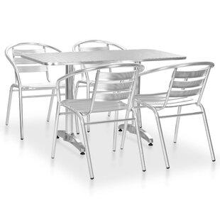 Schultz 5 Seater Dining Set By Mercury Row