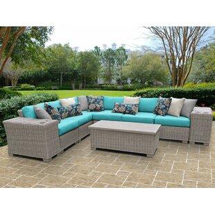 TK Classics Coast 9 Piece Sectional Set with Cushions