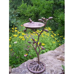 Oakland Living Feathers Meadow Birdbath