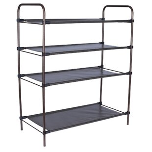 Affordable 4-Tier 12 Pair Shoe Rack By Household Essentials