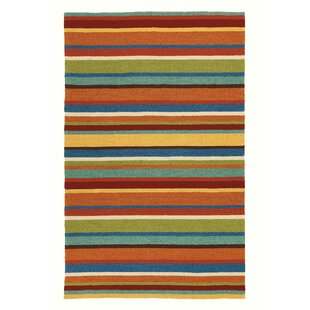 Cabana Stripe Orange Indoor/Outdoor Area Rug
