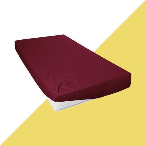 Jersey Spannbettlaken Mako-Fein Hashtag Home Farbe: Bordeaux| Größe: 90-100 cm B x 200 cm L | Heimtextilien > Bettwäsche und Laken > Bettlaken | Hashtag Home