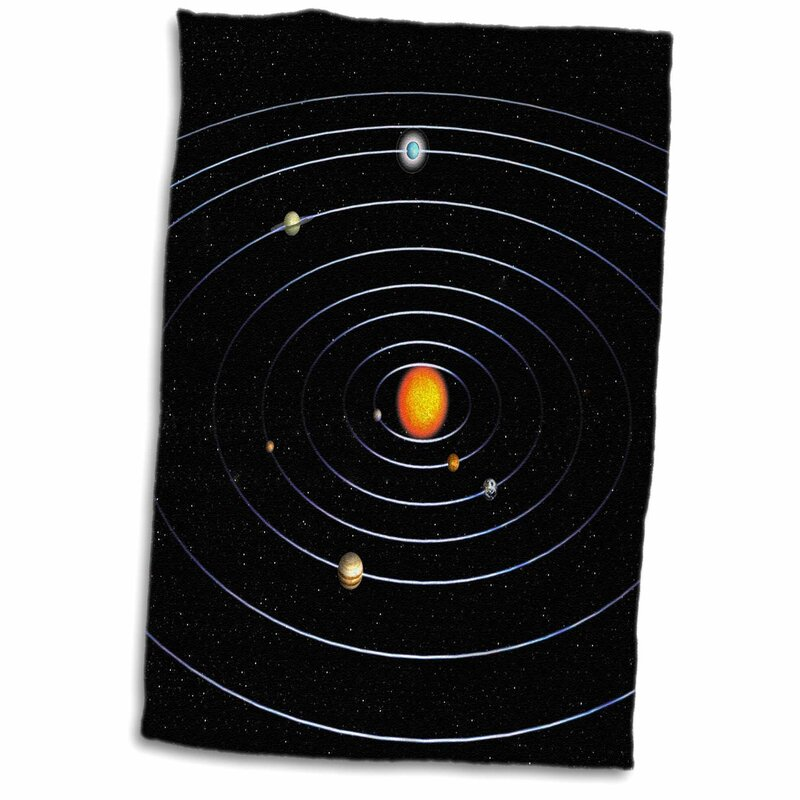 East Urban Home Magee Our Solar System With All The Planets Tea Towel Wayfair