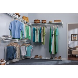 Closet System Wall Shelf by EZ Shelf from Tube Technology