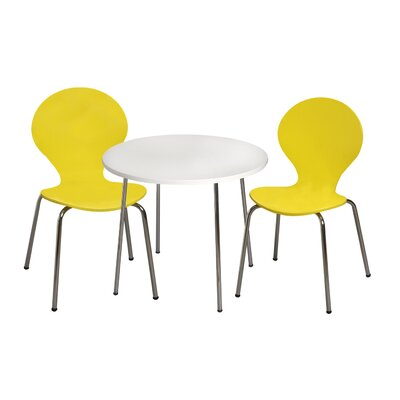 Mack & Milo Adelaide Kids 3 Piece Writing Table and Chair Set Color: Yellow