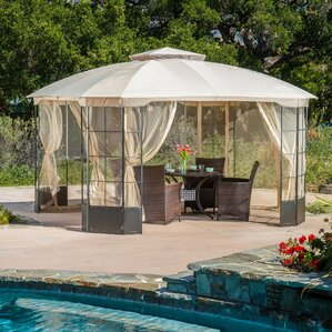 Amazing Polina 13 Ft. W X 13 Ft. D Steel Permanent Gazebo