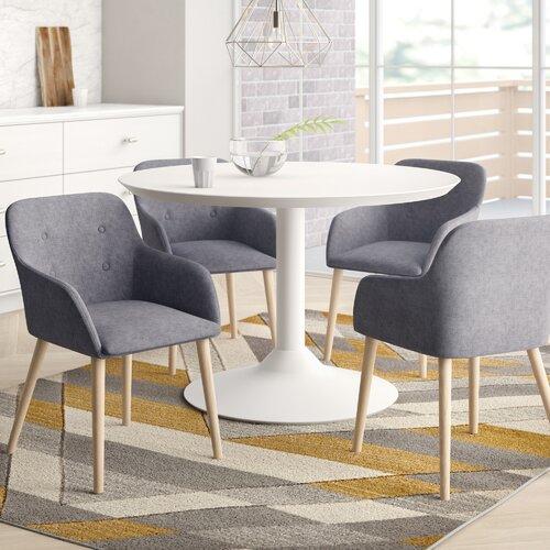 Armlehnstuhl-Set Hernan | Küche und Esszimmer > Stühle und Hocker > Armlehnstühle | Dunkelgrau | Stoff - Eichenholz - Polyester - Massivholz | Home Etc