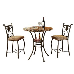 Stella 3 Piece Counter Height Dining Set
