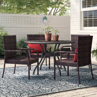 Magallon Stacking Patio Dining Chair (Set of 4)