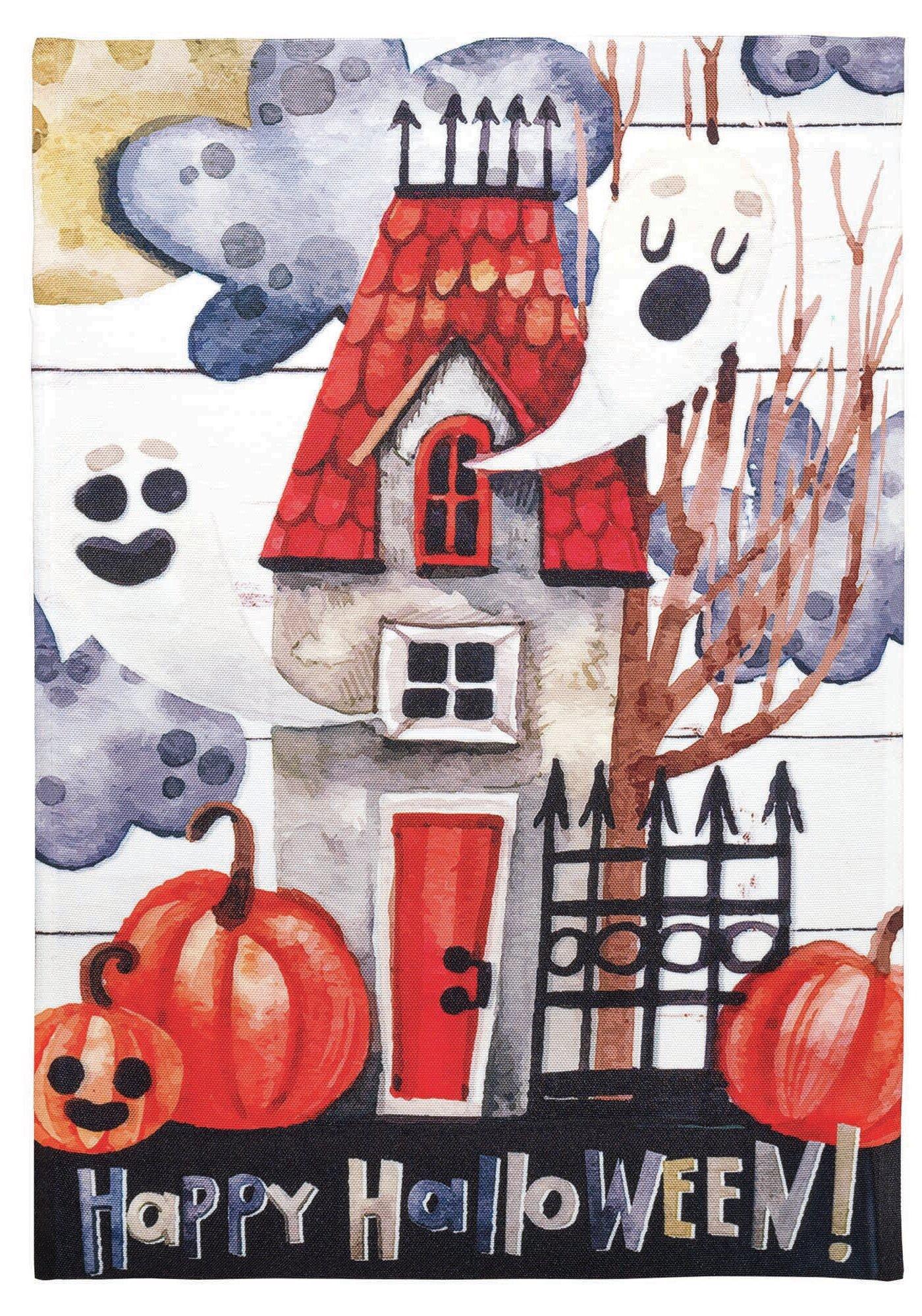 Dicksonsinc Happy Halloween House 2 Sided Polyester 18 X 13 In Garden Flag Wayfair