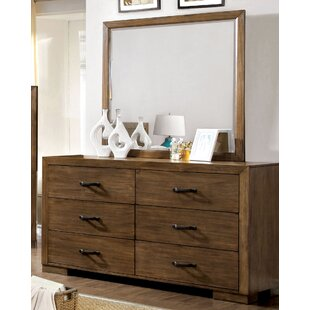 Fort Gibson 6 Drawer Double Dresser with Mirror
