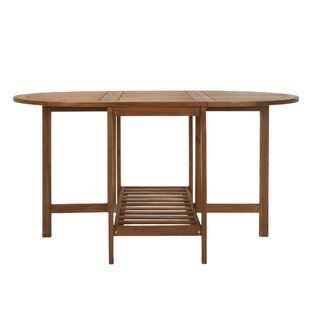Bay Isle Home Fairmead Folding Wood Dining Table