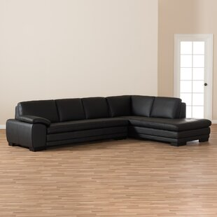Mizuno Leather Right Hand Facing Sectional by Latitude Run